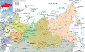 map usa russia detailed political map of russia ezilon maps
