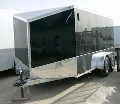 enclosed trailer exterior lights 7 x 14 aluminum enclosed low rider motorcycle trailer by lightning