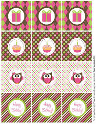 owl birthday freebie