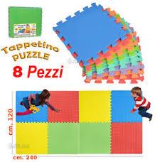 tappeti puzzle bambini tappeto puzzle gigante in gomma set 8 pezzi totale cm 120x240