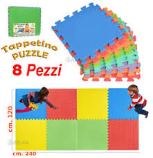 tappeti puzzle tappeto puzzle gigante in gomma set 8 pezzi totale cm 120x240