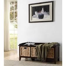 home decorators collection luton espresso storage bench cm bn6007