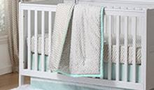 chevron baby crib bedding zig zag nursery decor