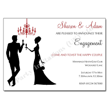 silhouettes chandelier engagement invitation engagement invites