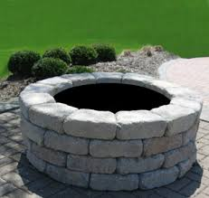 Stone Fire Pit Kit by Fire Pits Meade Concrete Products