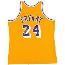 kobe bryant signed 2008 throwback lakers jersey panini coa