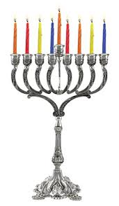 shabbat menorah hanukkah menorah hanukkia unique silver plated can be
