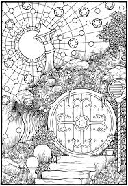The Door From The Coloring Book Equinox Adult Coloring The Coloring Pages