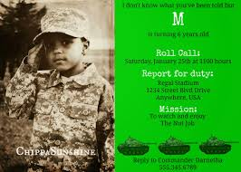 army birthday invitations army birthday party chippasunshine