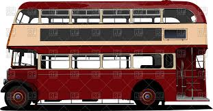 double decker red london bus side view vector clipart image