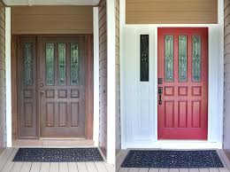Front Door Colors For Brick House by New Front Door Paint The Wood Grain Cottage Painting And Trim Same