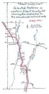 Map Denver Colorado by Echoes Of Elbert County The Denver U0026 New Orleans Railroad In