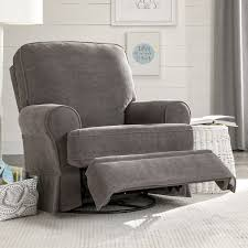 best chairs dakota swivel glider recliner charcoal velour