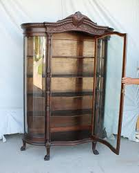 curved glass china cabinet antique curved glass china cabinet value mtching chin cbinet finh