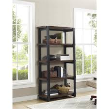 white 5 shelf bookcase ameriwood furniture castling 4 shelf bookcase espresso