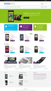Price Plan Design Website Template 49164 Mobile Shop Store Custom Website Template