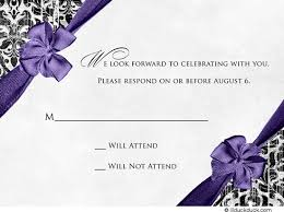 rsvp card neo guests write purple