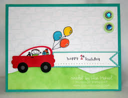 stampin up punch art car card for boy u0027s birthday creative cucina