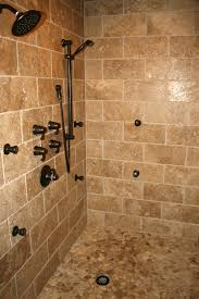 Tile Bathroom Shower Bathroom Accessories Shower Bath Remodel Travertine Tile