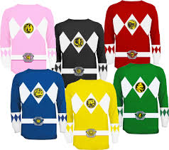 T Shirt Halloween Costumes Ideas The Power Rangers Long Sleeve Costume T Shirt Costumes Power