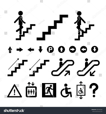 staircase symbol on white background stock vector 207983422