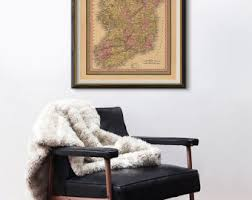Map Home Decor Historical Maps Etsy
