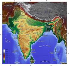 South India Map by A Topographic Map Of India The Republic Of India Is In South