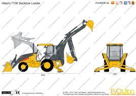 the blueprints com vector drawing hitachi 710k backhoe loader