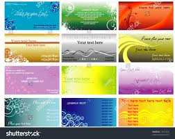 colorful horizontal business cards flayers stock vector 17457220