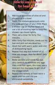 7 amazing tips on how to use olive oil for head lice treatment