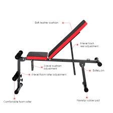 Weight Bench Ab Exercises Tomshoo Adjustable Folding Ab Bench Us 68 82 Sales Online Black