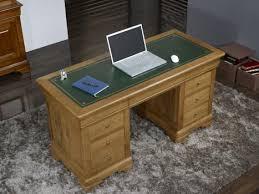 bureau chene bureau ministre 9 tiroirs jean baptiste en chêne massif de style