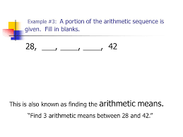 sequences and series 13 3 the arithmetic sequence ppt video