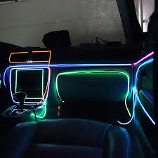 colorful flexible el wire internal cold neon light for car party