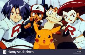 james ash pikachu meowth u0026 jessi pokemon 2 2000 stock photo