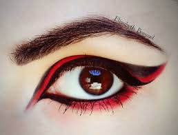Eyeliner Halloween Makeup by Red U0026 Black Halloween Make Up Tutorial January
