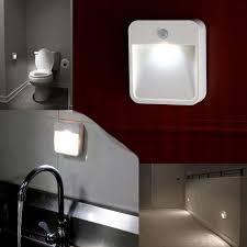 Battery Powered Bathroom Lights Bathroom Lighting Batteryed Motion Sensor Led Light Portable Wide