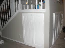 Granite Stairs Design Cabinet Under Staircase Design Transparent Glass Vase Blue Caged