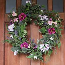 spring door wreaths windsor silk spring door wreath 22 inch ebay