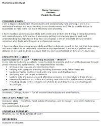 Marketing Assistant Job Description For Resume by Excellent Marketing Assistant Resume 74 For Resume Template