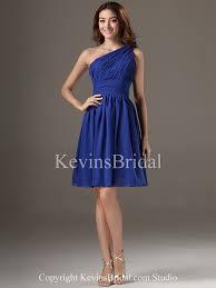 royal blue one shoulder asymmetrical summer short mid length non