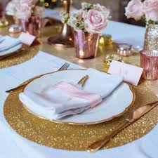 Pink And Gold Table Setting by 20 Metallic Wedding Ideas Bronze Gold Copperthe Wedding Of