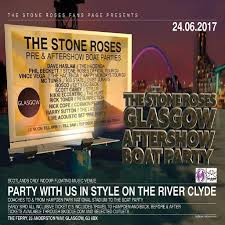 the stone roses pre u0026 after boat party glasgow tickets the ferry