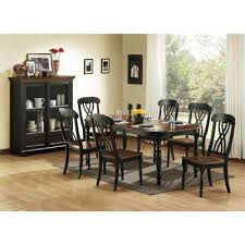 Black Dining Room Chairs Cherry Wood Dining Room Fascinating Black Wood Dining Room Set