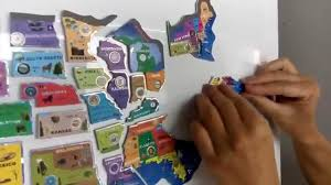 Map Of Usa Game by Usa Magnetic Puzzle Map Youtube