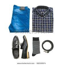 men set beautiful fashion clothes set men isolated stock photo 561505783