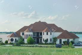 Modern Style House Large And Beautiful Modern Style House With Tile Roof And Castle