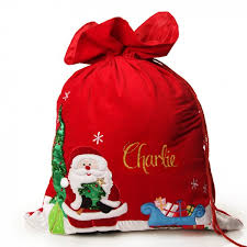 santa sacks personalised santa sacks australia personalised christmas sacks