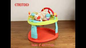 table d activité bébé avec siege base d activité pour bébé éveil jeux balancelle trot06 de