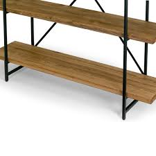 Etagere Wood Ailis Brown Wood And Metal 75 Inch 4 Shelf Etagere Bookcase Free